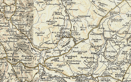 Old map of Wildboarclough in 1902-1903