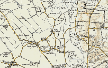 Old map of Wilde Street in 1901