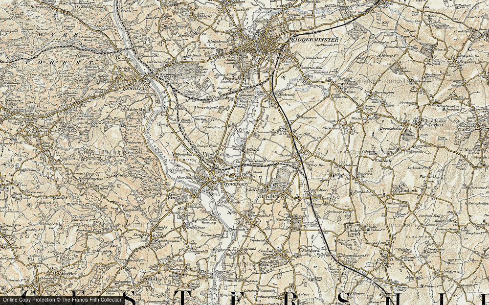 Old Map of Wilden, 1901-1902 in 1901-1902