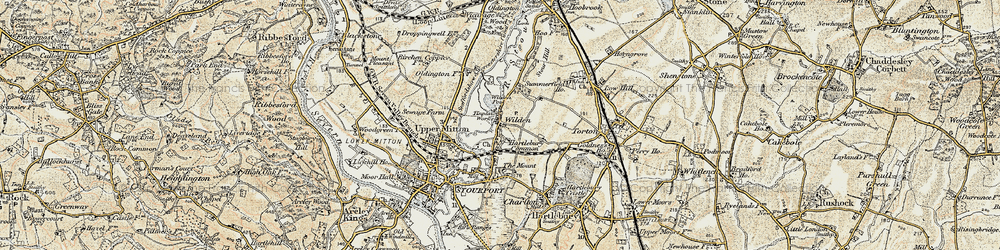 Old map of Wilden in 1901-1902