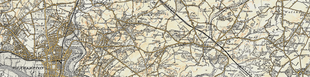 Old map of Wildern in 1897-1909