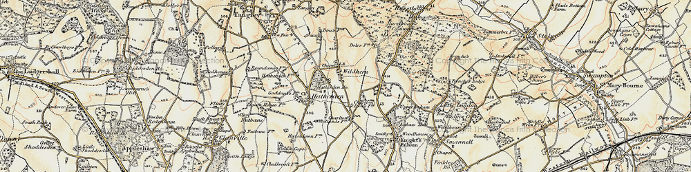 Old map of Wildhern in 1897-1900