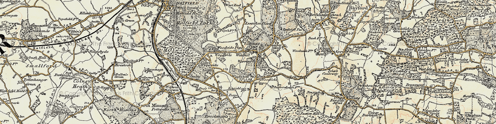 Old map of Wildhill in 1898