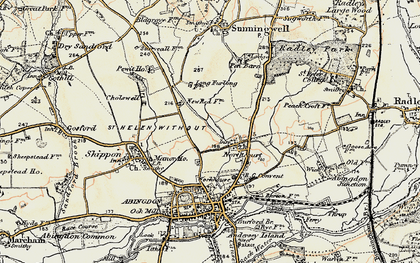 Old map of Wildmoor in 1897-1899