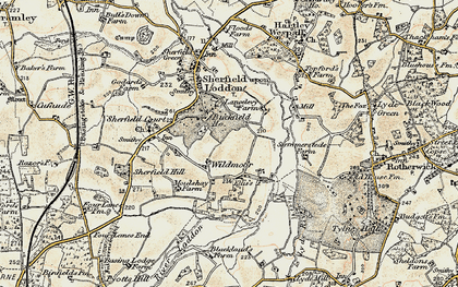 Old map of Wildmoor in 1897-1900