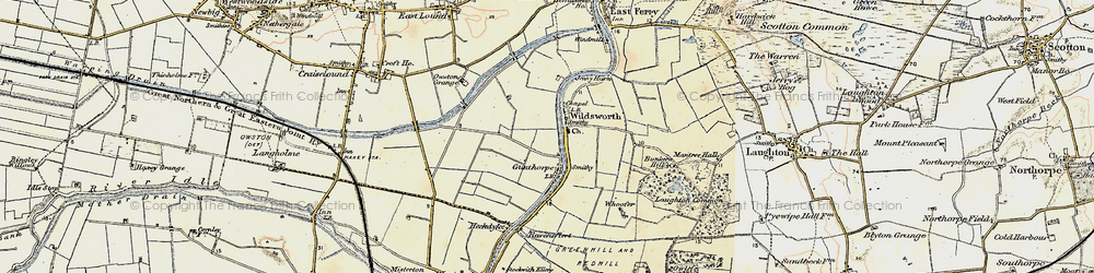 Old map of Wildsworth in 1903