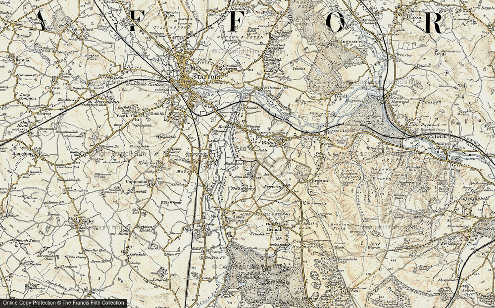 Old Map of Historic Map covering Larchery, The in 1902