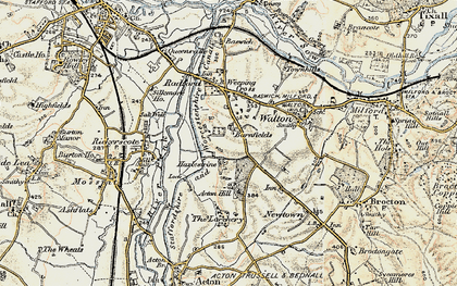 Old map of Larchery, The in 1902