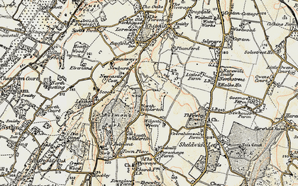 Old map of Wilgate Green in 1897-1898
