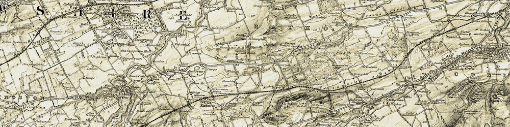 Old map of Wilkieston in 1903-1904