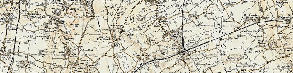 Old map of Wilkin Throop in 1899