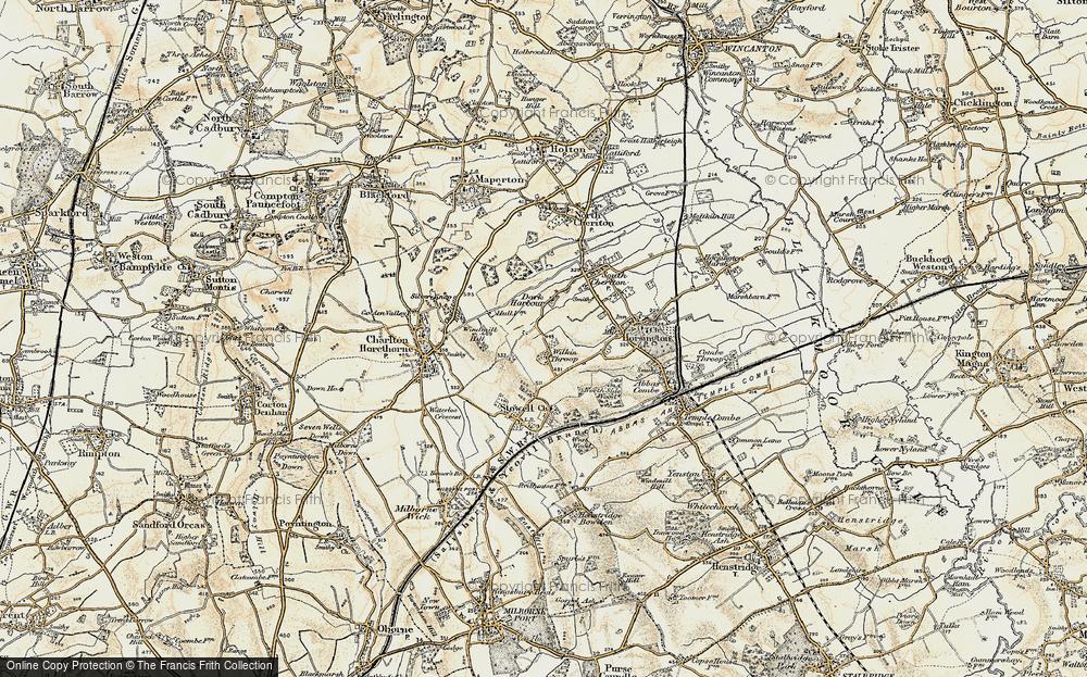 Old Map of Wilkinthroop, 1899 in 1899