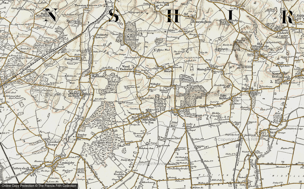 Old Map of Wilksby, 1902-1903 in 1902-1903