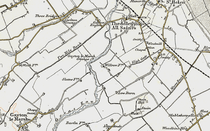 Old map of Will Row in 1903