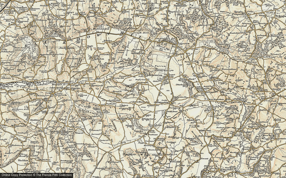 Old Map of Willand, 1898-1900 in 1898-1900