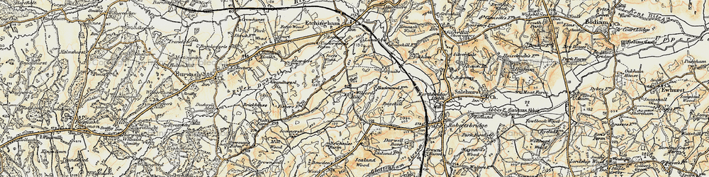 Old map of Willard's Hill in 1898