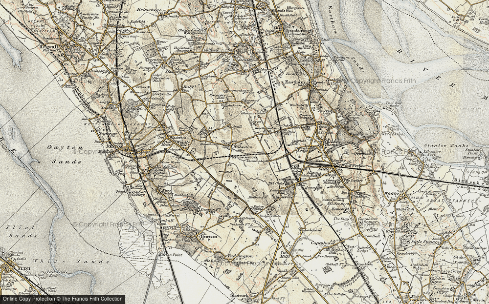 Old Map of Historic Map covering Badgers Rake Ho in 1902-1903