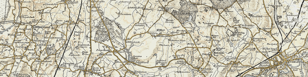 Old map of Willaston in 1902