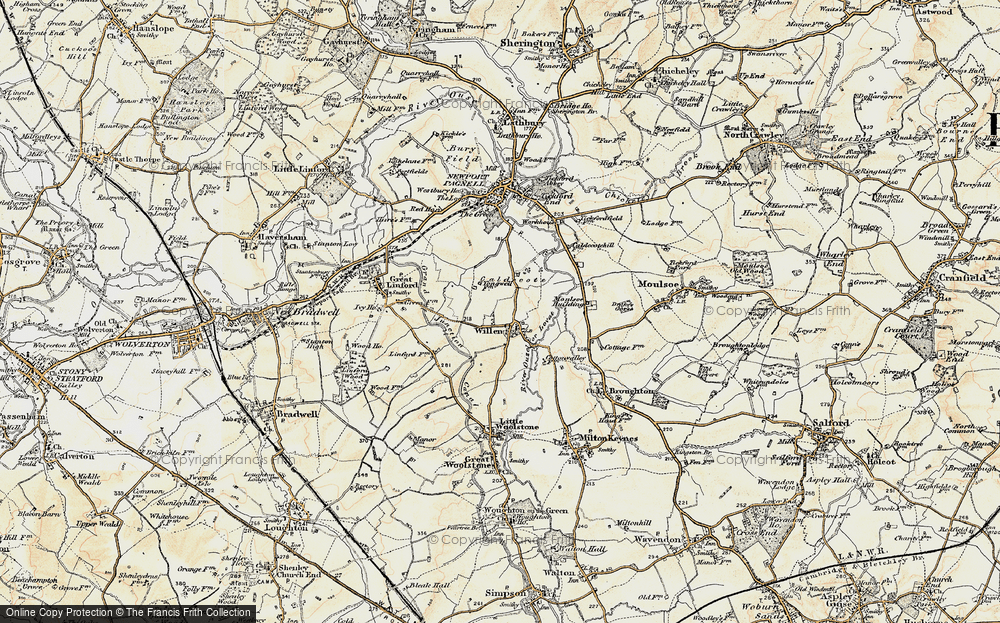 Old Map of Willen, 1898-1901 in 1898-1901