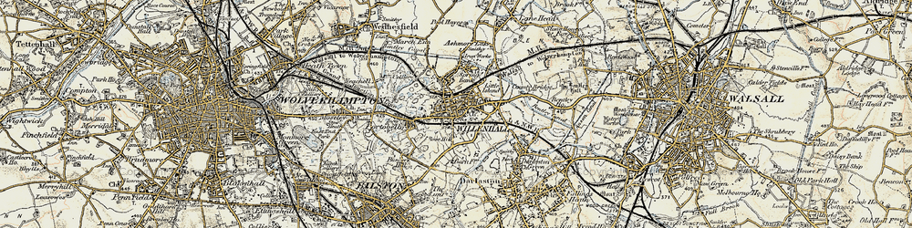 Old map of Willenhall in 1902