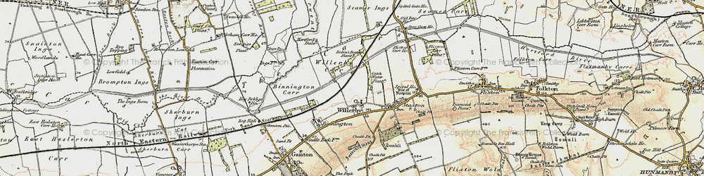Old map of Willerby in 1903-1904