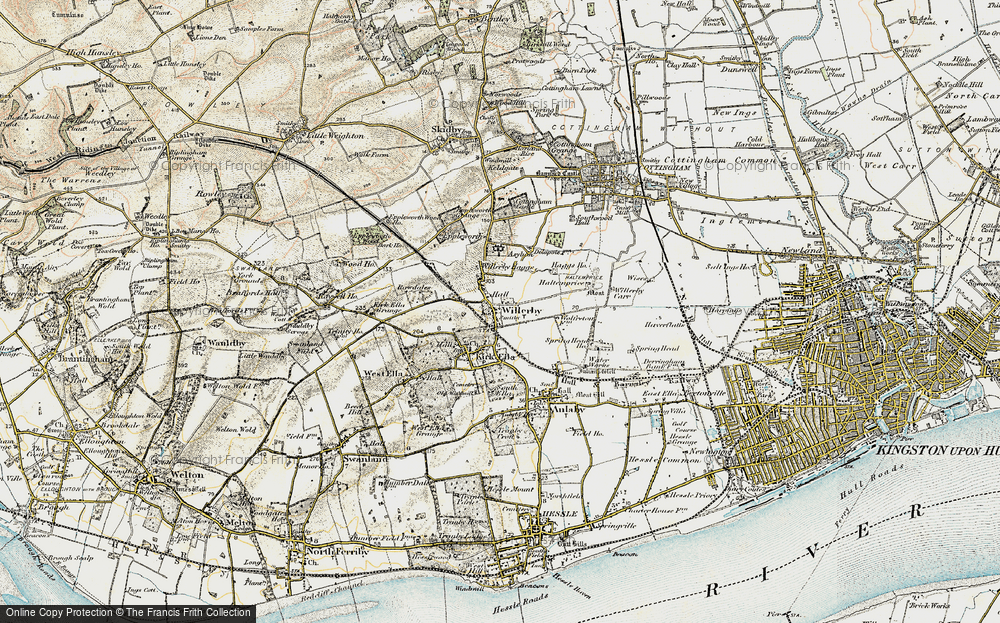Old Map of Willerby, 1903-1908 in 1903-1908