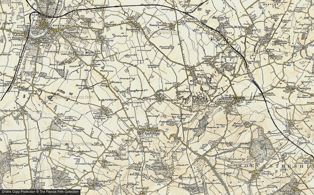 Old Map of Willersey, 1899-1901 in 1899-1901