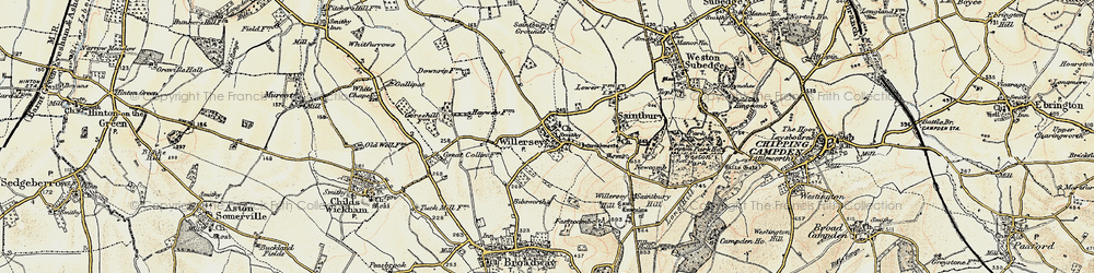 Old map of Willersey in 1899-1901