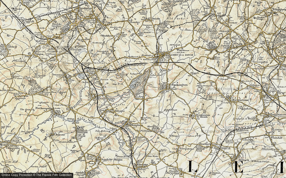 Old Map of Willesley, 1902-1903 in 1902-1903