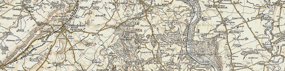 Old map of Willypark Wood in 1902