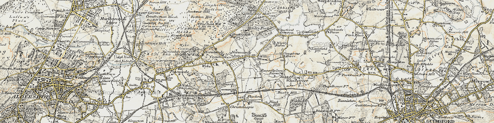Old map of Willey Green in 1898-1909