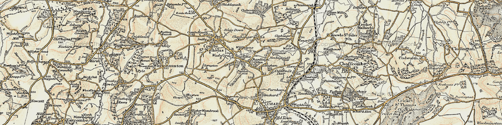 Old map of Willhayne in 1898-1899