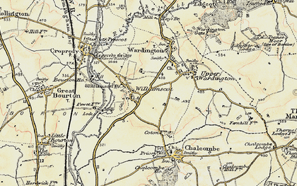 Old map of Williamscot Ho in 1898-1901