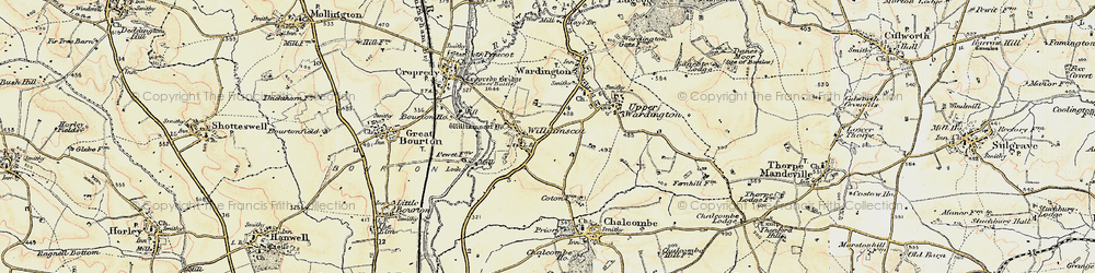 Old map of Williamscot in 1898-1901