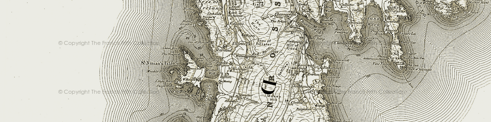 Old map of Williamsetter in 1911-1912