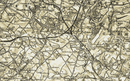 Old map of Williamwood in 1904-1905