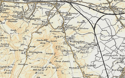 Old map of Willingdon in 1898