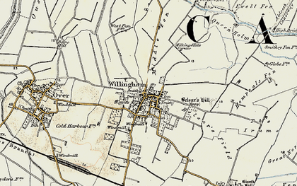 Old map of Willingham in 1901