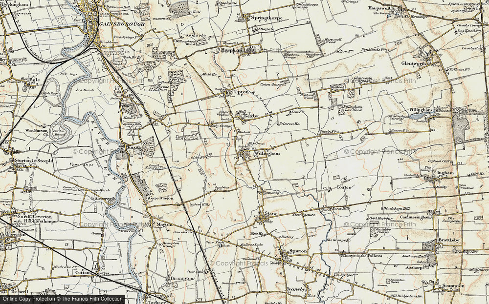 Old Map of Willingham by Stow, 1902-1903 in 1902-1903