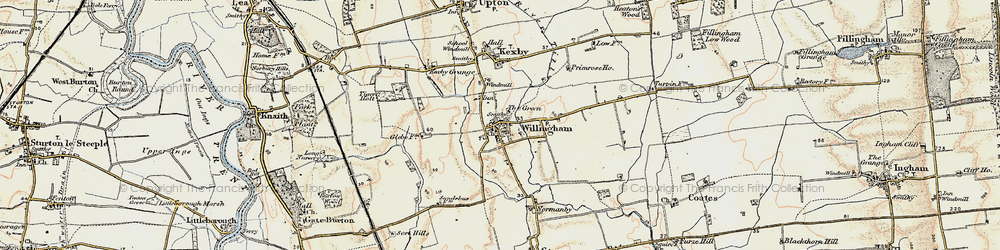 Old map of Willingham by Stow in 1902-1903