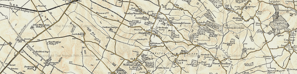 Old map of Willingham Green in 1899-1901