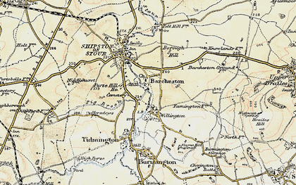 Old map of Willington in 1899-1901