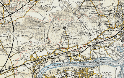Old map of Willington in 1901-1903