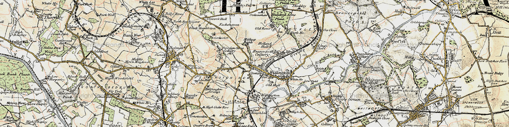 Old map of Willington in 1901-1904