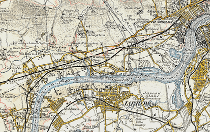 Old map of Willington Quay in 1901-1903