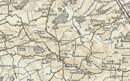 Old map of Willisham in 1899-1901