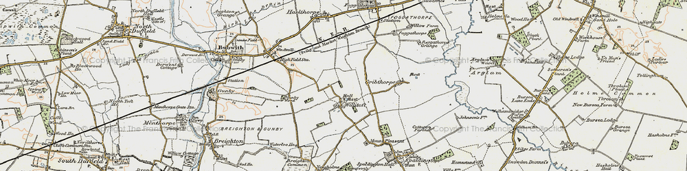 Old map of Willitoft in 1903