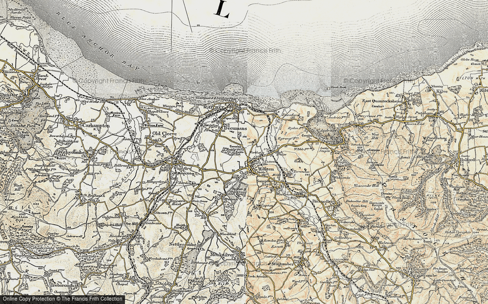 Old Map of Williton, 1898-1900 in 1898-1900