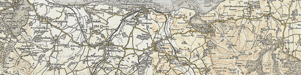 Old map of Williton in 1898-1900
