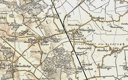 Old map of Willoughby in 1902-1903